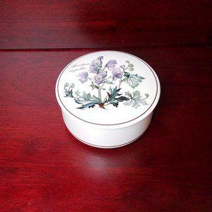 Villeroy & Boch Round Trinket Box Purple Flowers